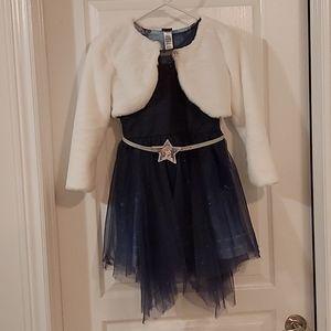 Frozen2 Dress Set with Mini Jacket and Belt Size 8